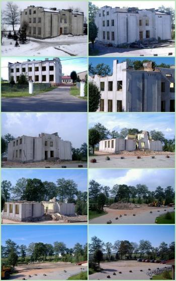 Rozbiórka starej szkoły
