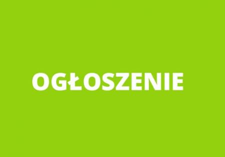 Ogłoszenie  dyrektora szkoły z dnia 21 grudnia 2020 r.